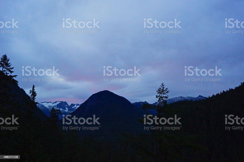 North Cascades Dawn stock photo