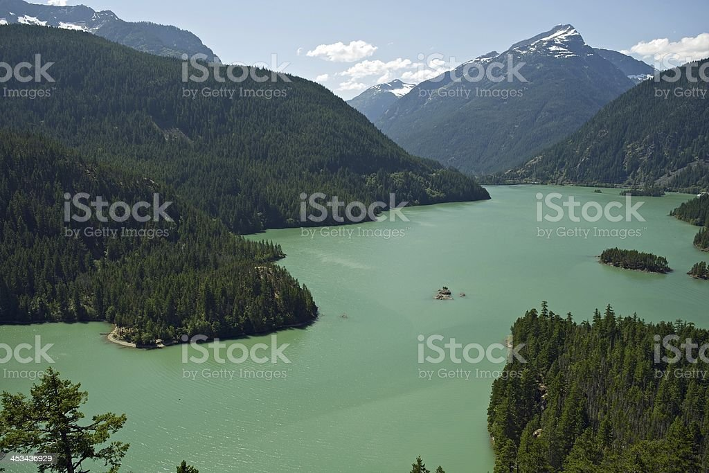 North Cascades Diablo Lake stock photo