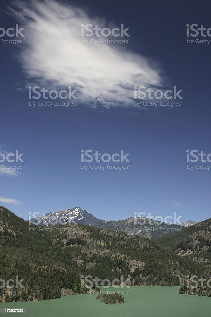 North Cascades El Diablo Lake Cloud stock photo