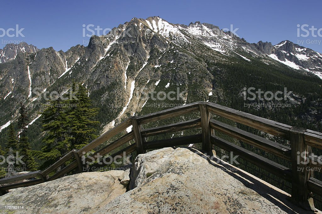 north cascades fence royalty-free stock photo