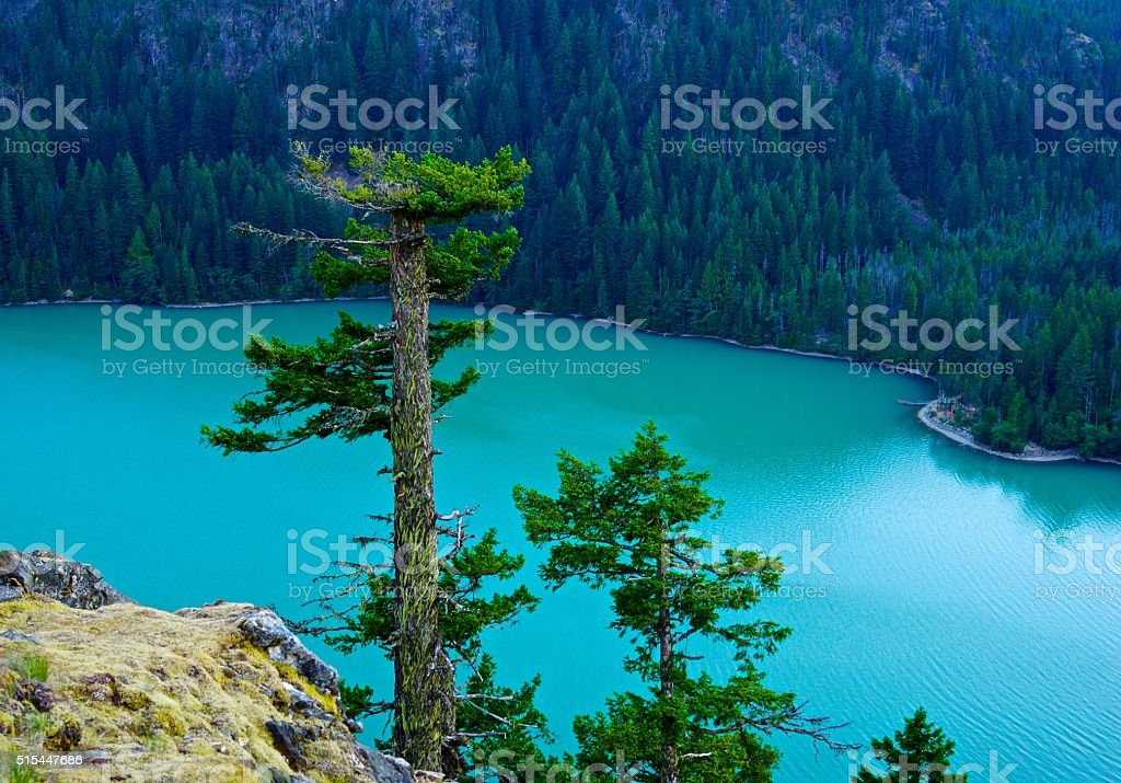 North Cascades Green Lake stock photo