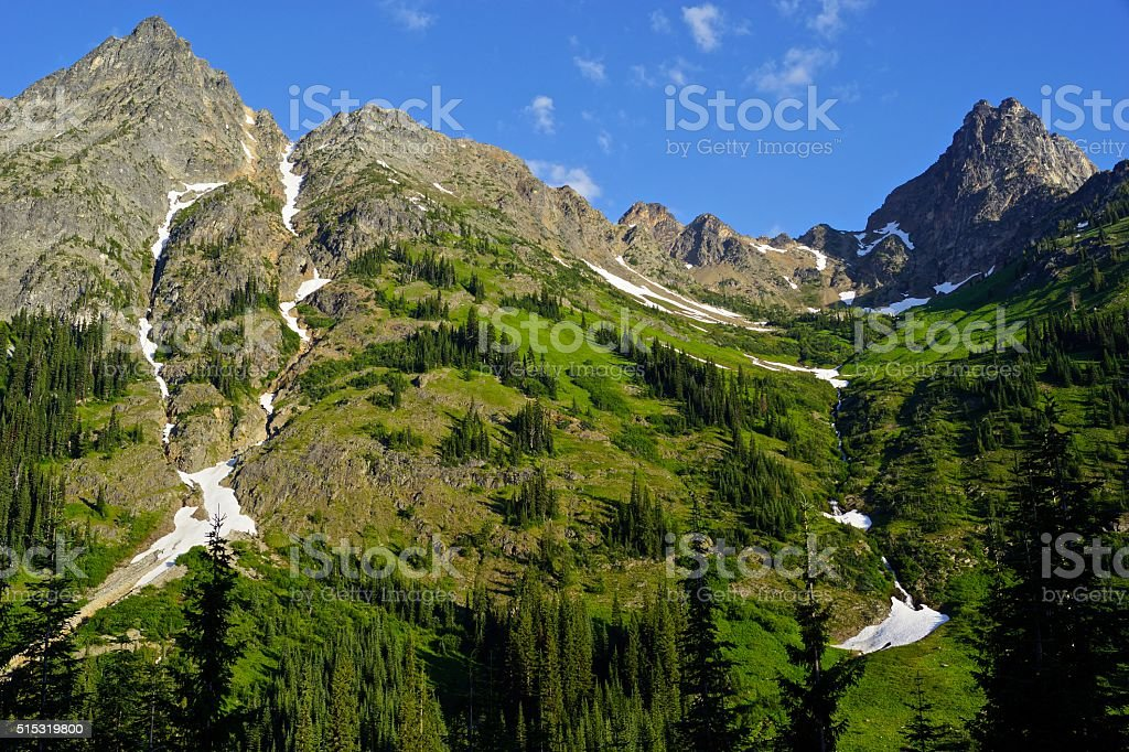 North Cascades Green stock photo