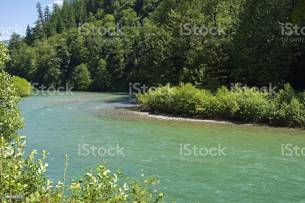 North Cascades Green River royalty-free stock photo