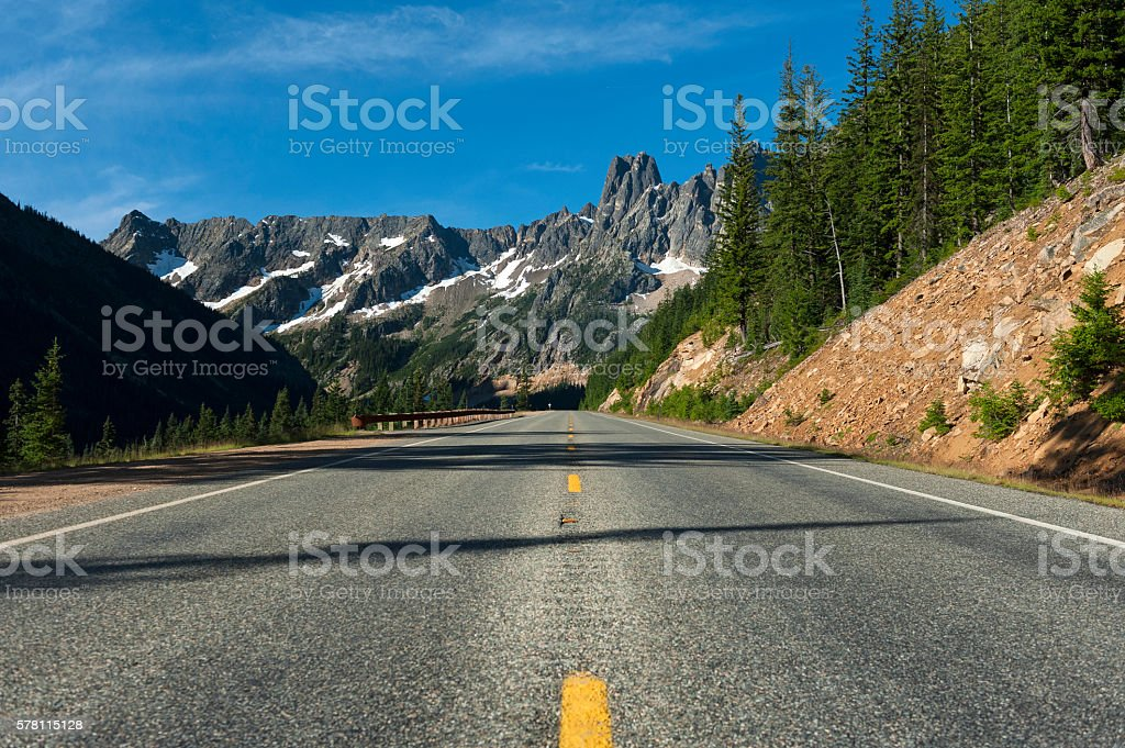 North Cascades Highway stock photo