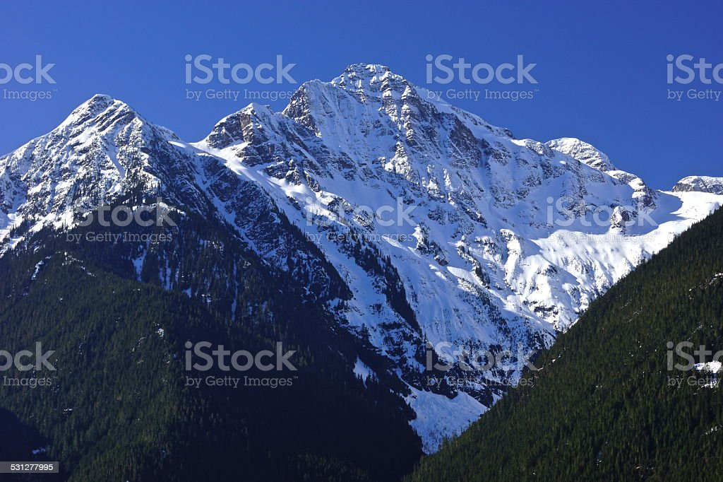 North Cascades Ice Light stock photo