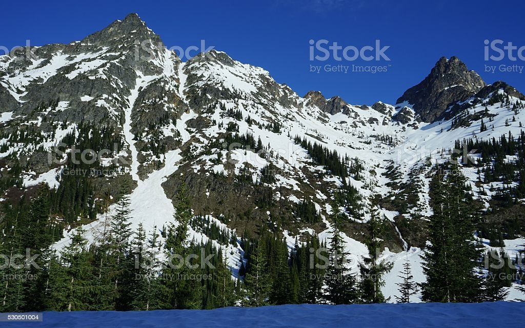 North Cascades Land stock photo