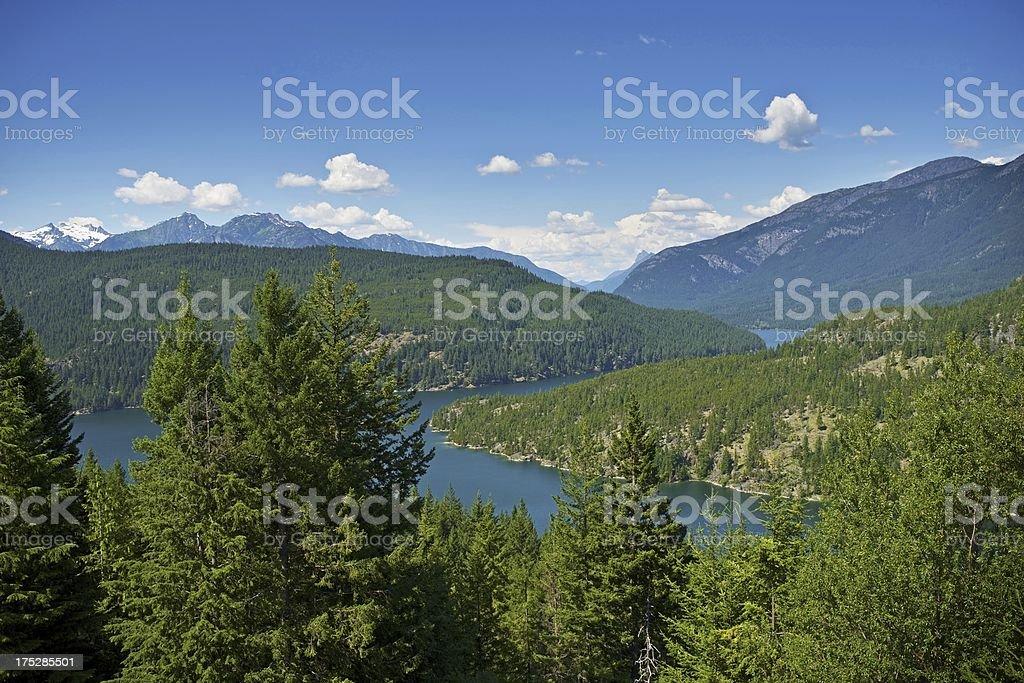 North Cascades Mountains stock photo