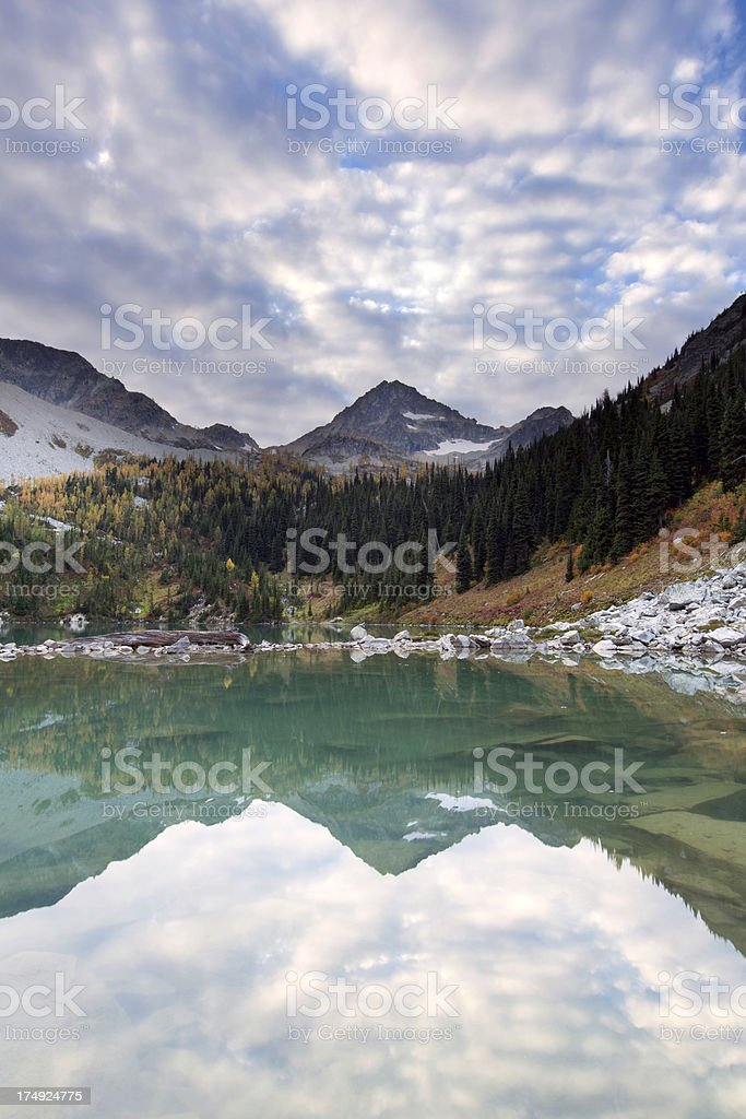 North Cascades National Park Wing Lake royalty-free stock photo