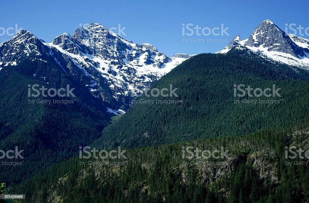 North Cascades Peaks stock photo