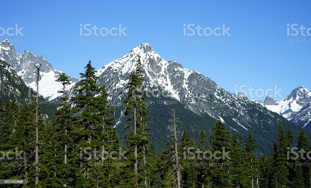 North Cascades Rugged stock photo
