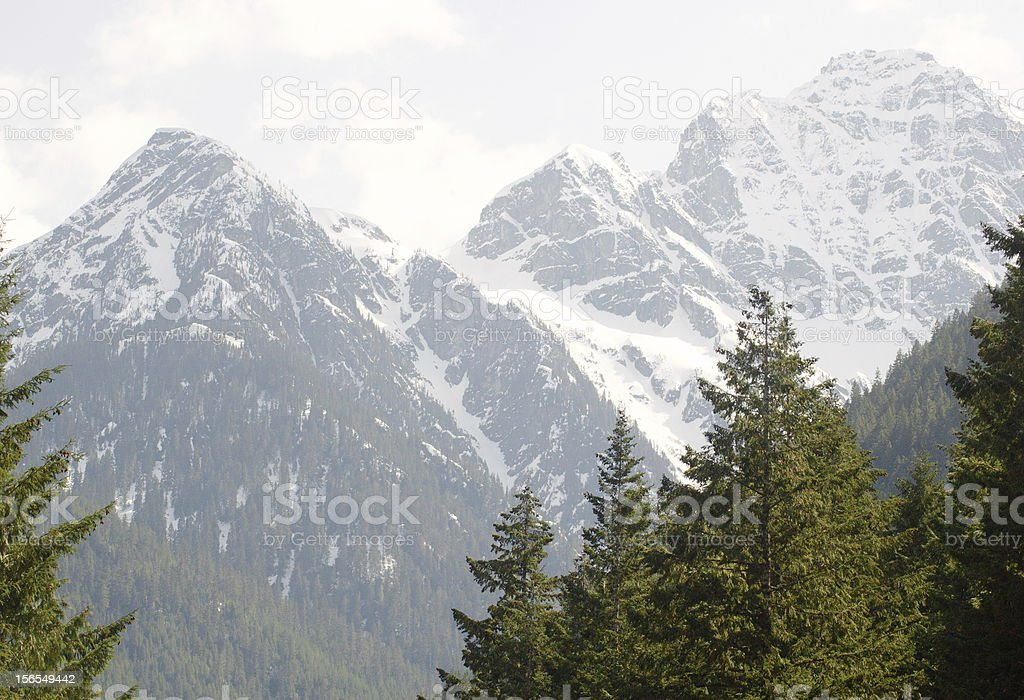 North Cascades snow capped peaks royalty-free stock photo