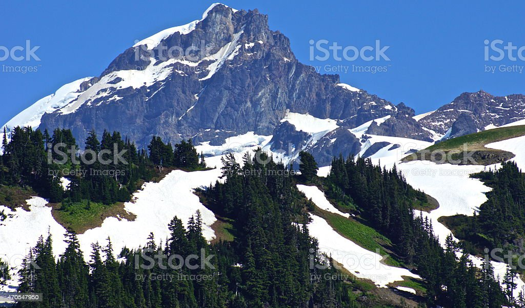 North Cascades Steep Rock stock photo