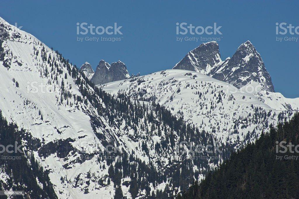 North Cascades Stone Ice stock photo