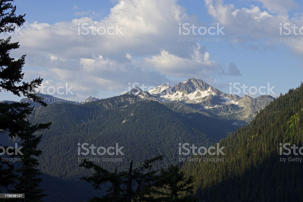 North Cascades Valley stock photo