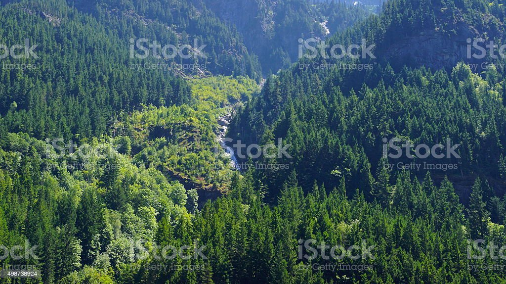 North Cascades Waterfall stock photo