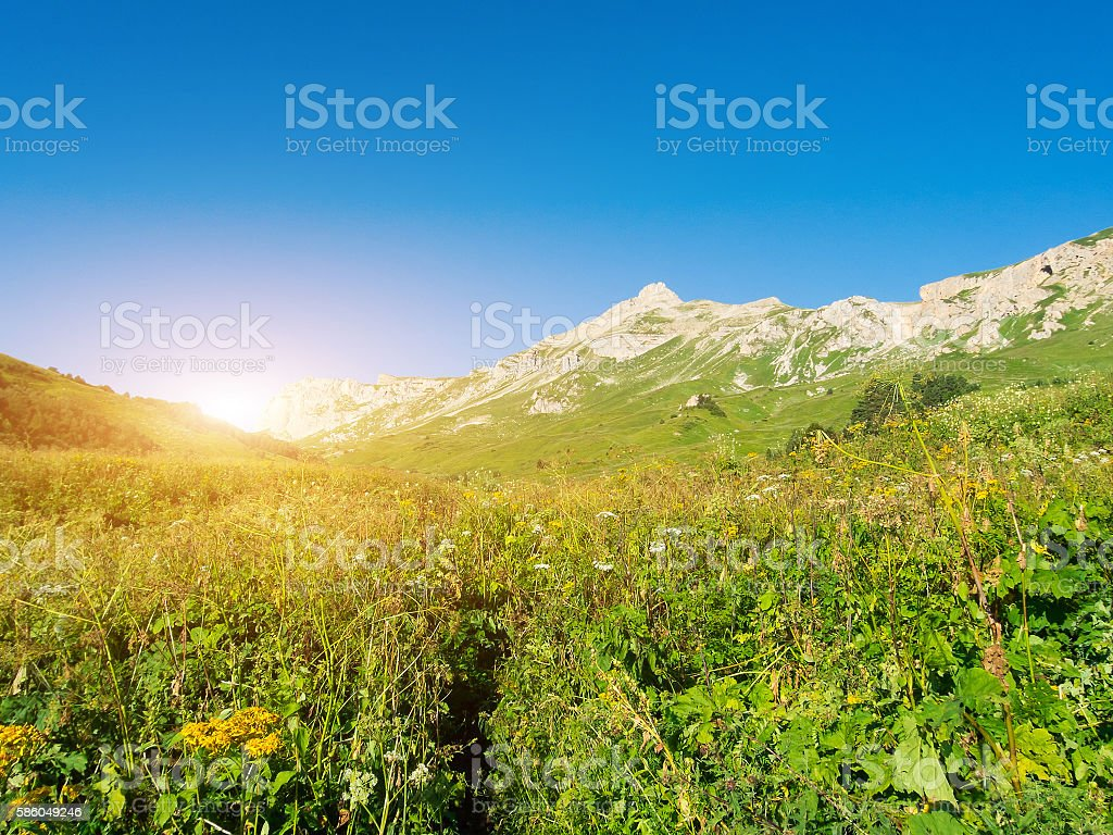 North Caucasus stock photo