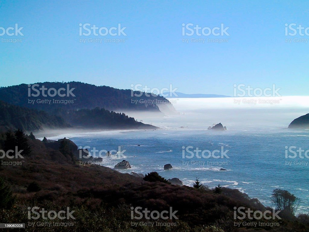 North Coast Fog royalty-free stock photo