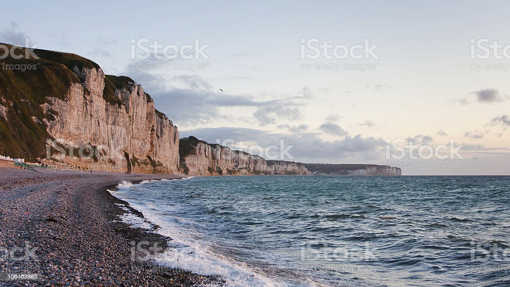 North coast of France. Sunset stock photo