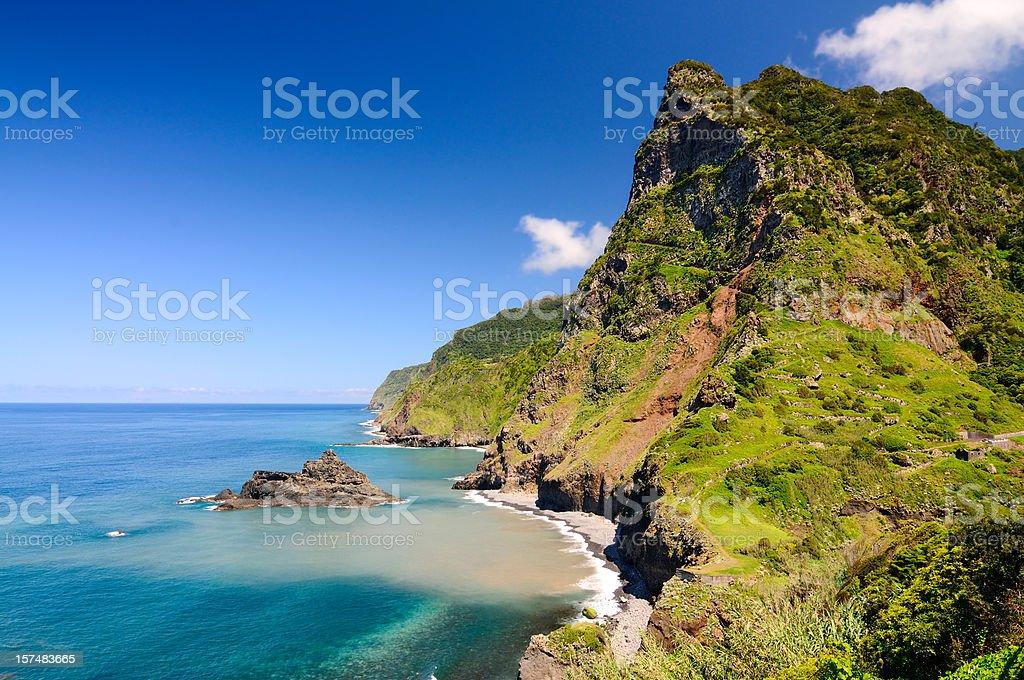 North Coast of Madeira near Seixal Spring stock photo
