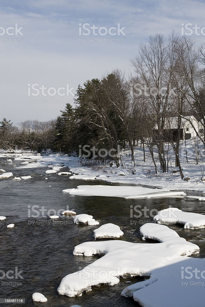 North Conway in Winter stock photo