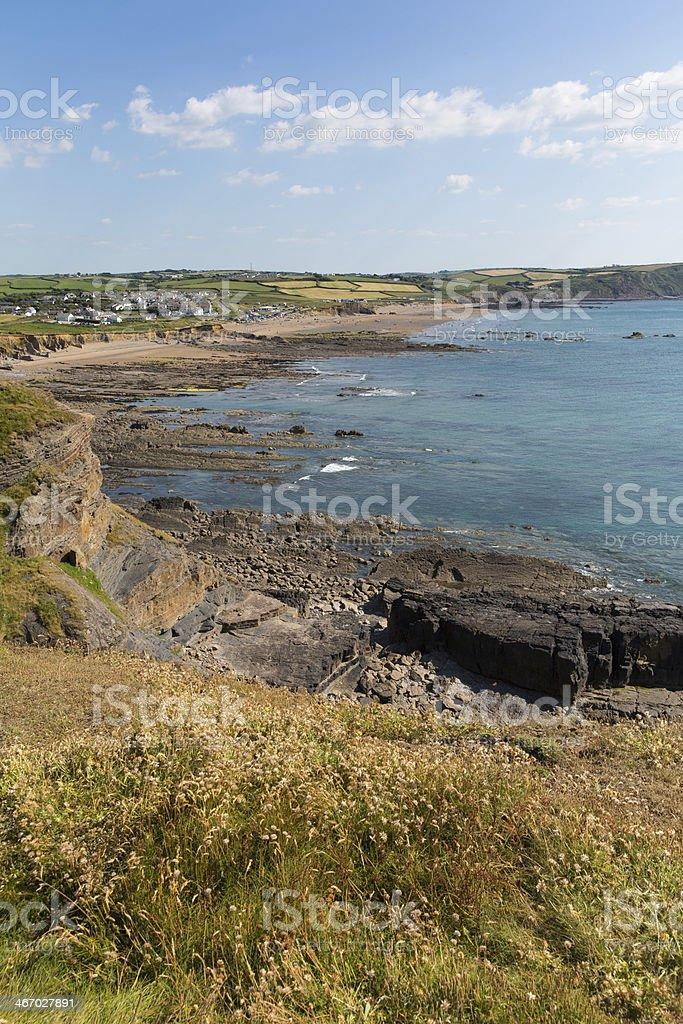 North Cornwall at Widemouth Bay near Bude stock photo