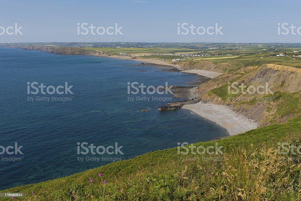North Cornwall beach and coast view stock photo