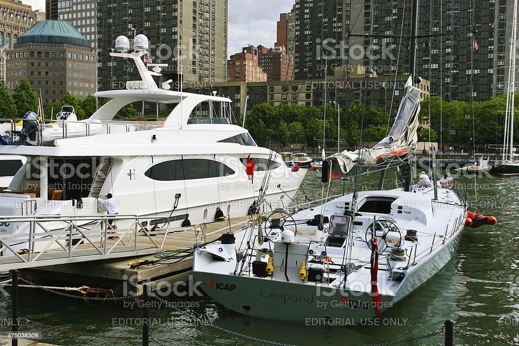 North Cove Marina, Battery Park, New York City. royalty-free stock photo