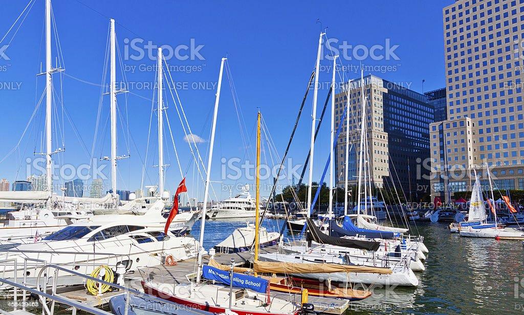 North Cove Marina, Downtown Manhattan, New York. royalty-free stock photo