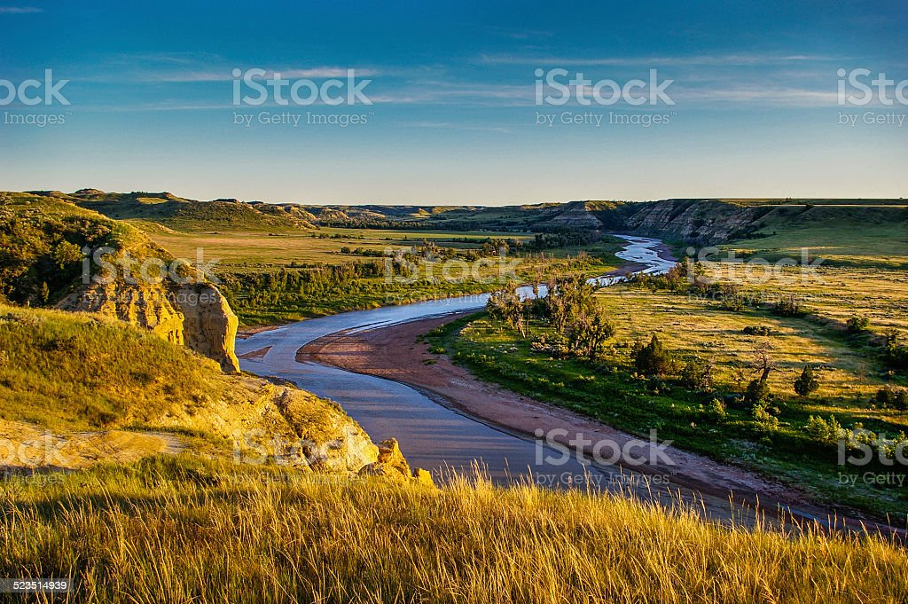 North Dakota Badlands stock photo