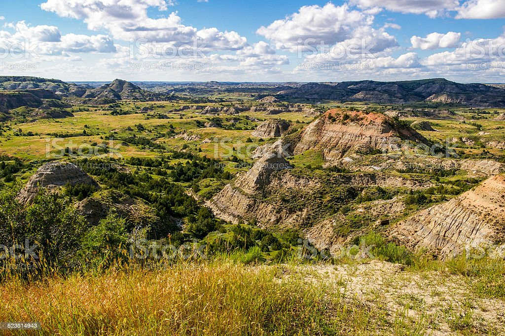 North Dakota Bandlands stock photo