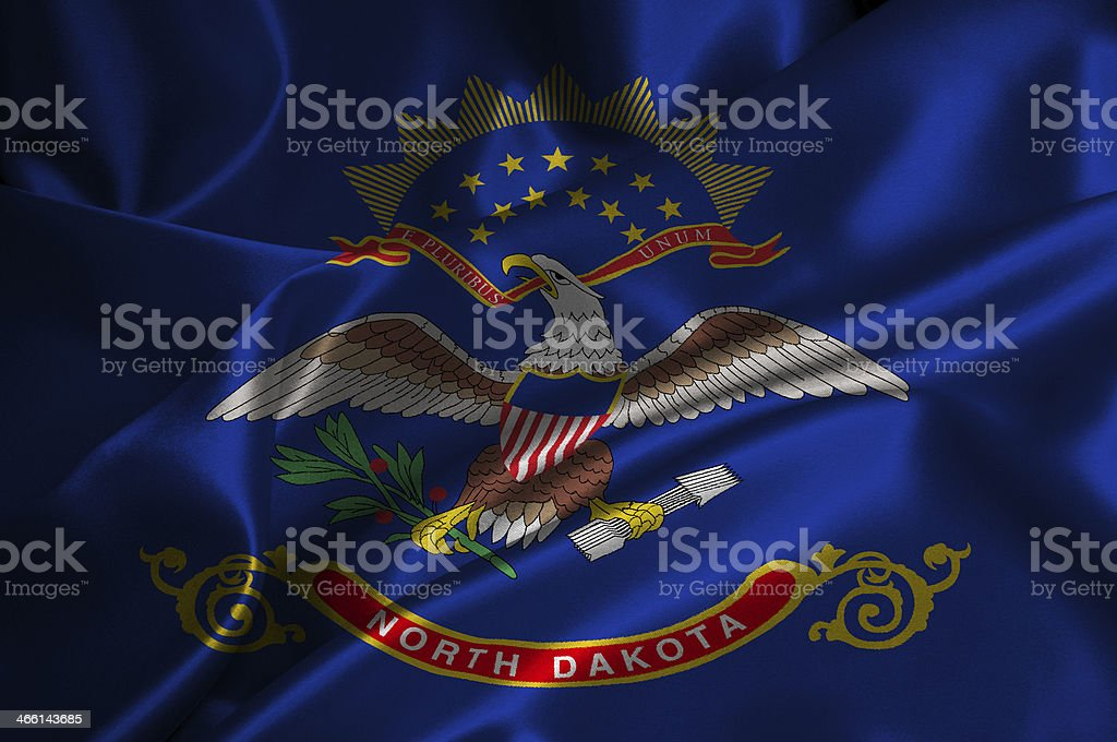 North Dakota flag stock photo