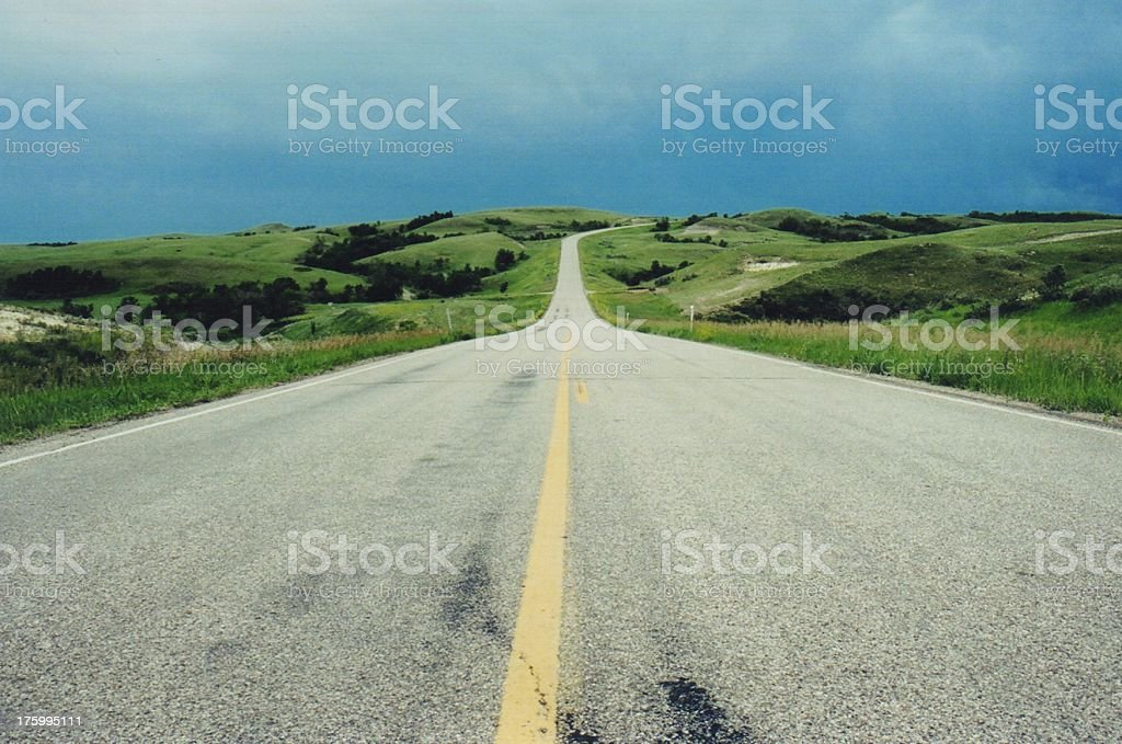 North Dakota Highway royalty-free stock photo