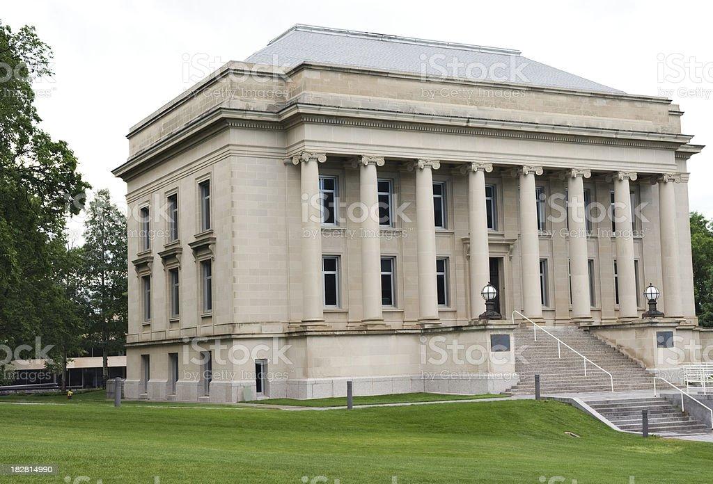 North Dakota Library Building stock photo