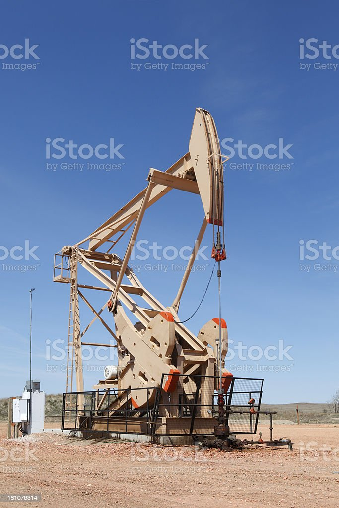 North Dakota Oil Pump royalty-free stock photo