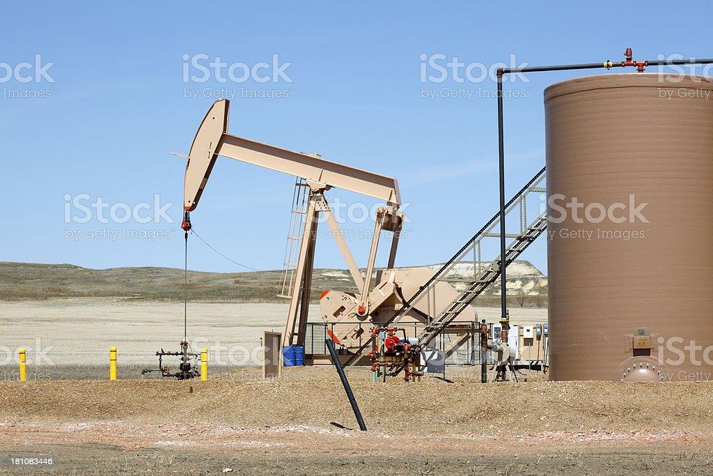 North Dakota Oil Pump royalty-free stock photo