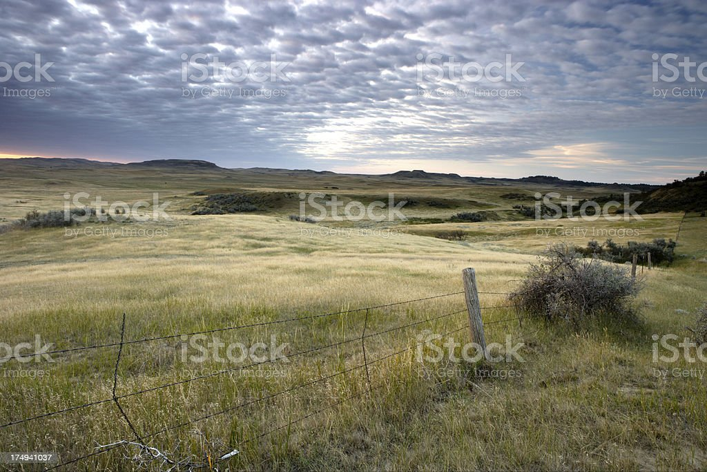 North Dakota Prairie stock photo
