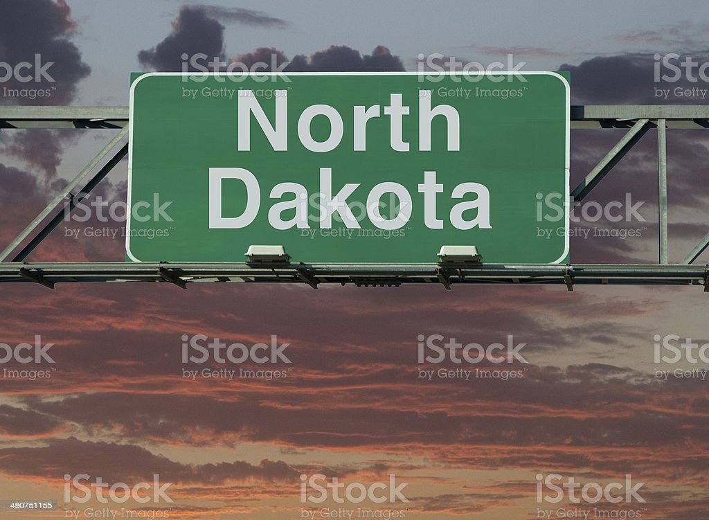 North Dakota Sign royalty-free stock photo