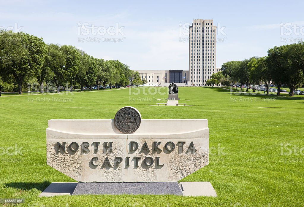 North Dakota State Capitol Building stock photo