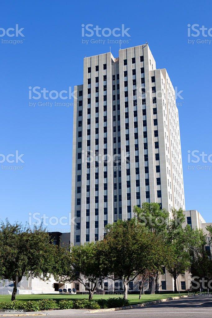 North Dakota State Capitol Tower stock photo