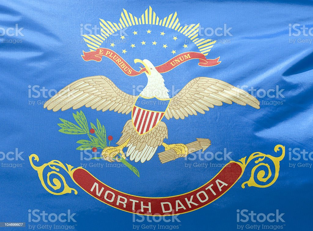 North Dakota State Flag stock photo