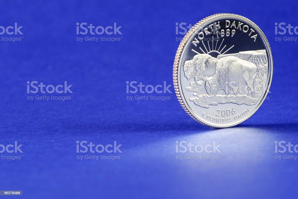 North Dakota State Quarter 2006 Coin stock photo