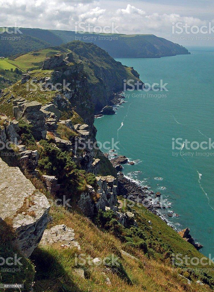 North Devon coast stock photo