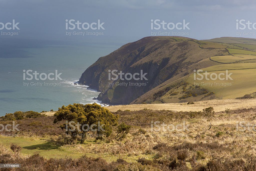 North Devon coast South West Path stock photo
