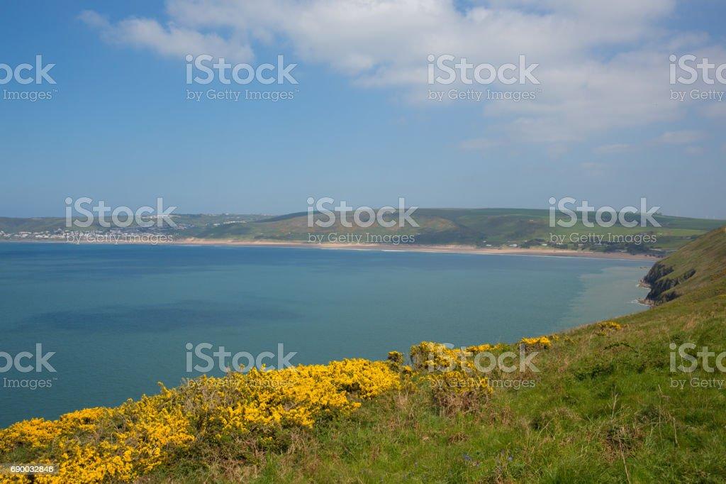 North Devon coast Woolacome Devon England UK stock photo