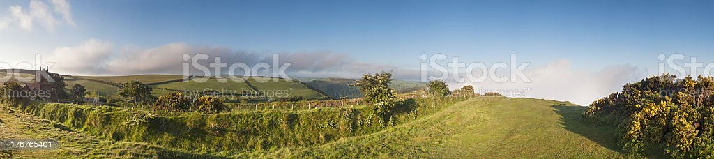 North Devon farmland in the spring. stock photo