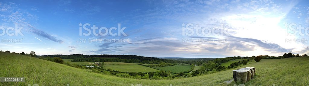 North Downs Panoramic stock photo