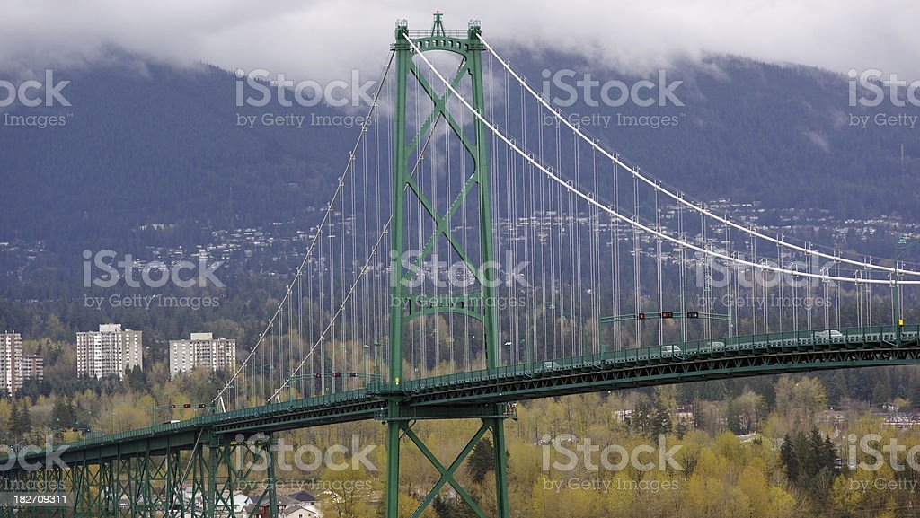 North End Of Lions Gate Bridge stock photo
