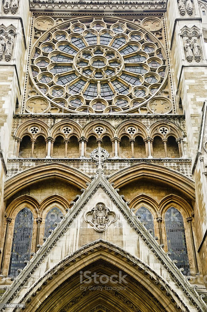 North Entrance to Westminster Abbey royalty-free stock photo