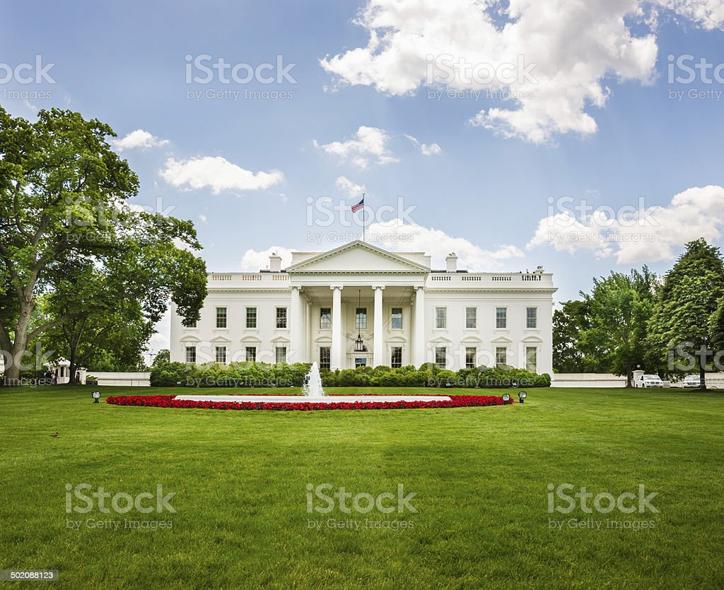 North Fa?ade of White House in Washington, D.C. USA stock photo