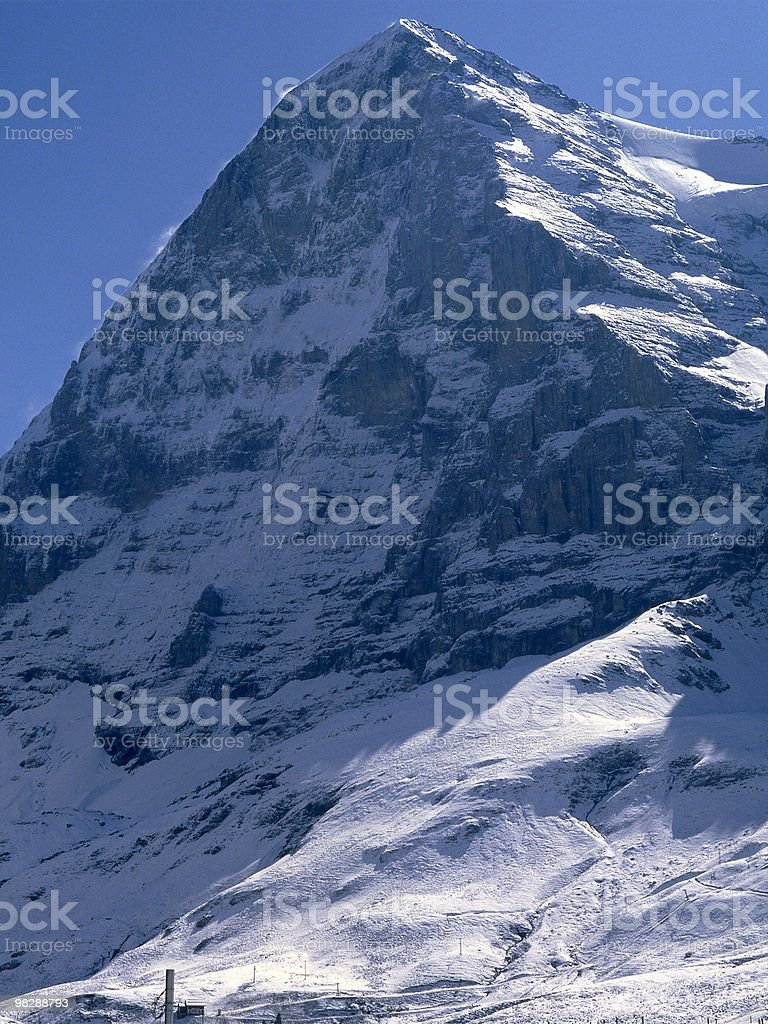 North Face of Eiger Mountain. Switzerland royalty-free stock photo